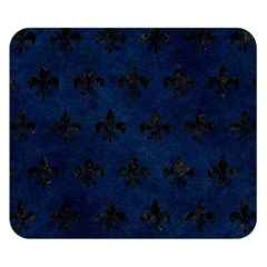 Royal1 Black Marble & Blue Grunge Double Sided Flano Blanket (small) by trendistuff
