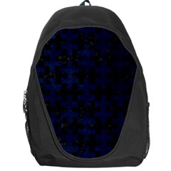 Puzzle1 Black Marble & Blue Grunge Backpack Bag by trendistuff