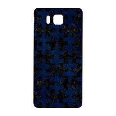 Puzzle1 Black Marble & Blue Grunge Samsung Galaxy Alpha Hardshell Back Case by trendistuff