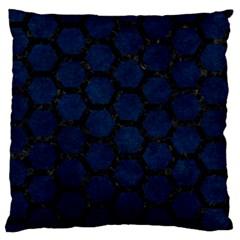 Hexagon2 Black Marble & Blue Grunge (r) Standard Flano Cushion Case (two Sides) by trendistuff