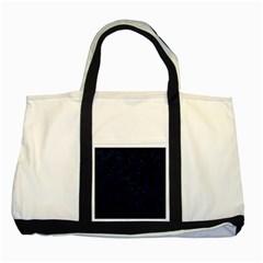 Hexagon2 Black Marble & Blue Grunge Two Tone Tote Bag by trendistuff