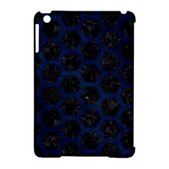 Hexagon2 Black Marble & Blue Grunge Apple Ipad Mini Hardshell Case (compatible With Smart Cover) by trendistuff