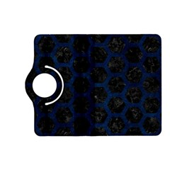 Hexagon2 Black Marble & Blue Grunge Kindle Fire Hd (2013) Flip 360 Case by trendistuff