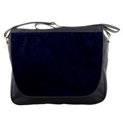 Hexagon1 Black Marble & Blue Grunge (r) Messenger Bag by trendistuff