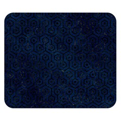 Hexagon1 Black Marble & Blue Grunge (r) Double Sided Flano Blanket (small) by trendistuff