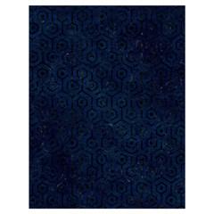 Hexagon1 Black Marble & Blue Grunge (r) Drawstring Bag (large) by trendistuff