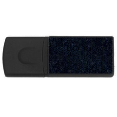 Hexagon1 Black Marble & Blue Grunge Usb Flash Drive Rectangular (4 Gb) by trendistuff