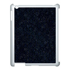 Hexagon1 Black Marble & Blue Grunge Apple Ipad 3/4 Case (white) by trendistuff