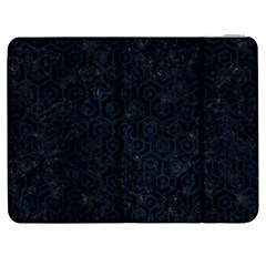 Hexagon1 Black Marble & Blue Grunge Samsung Galaxy Tab 7  P1000 Flip Case by trendistuff