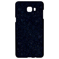 Hexagon1 Black Marble & Blue Grunge Samsung C9 Pro Hardshell Case  by trendistuff