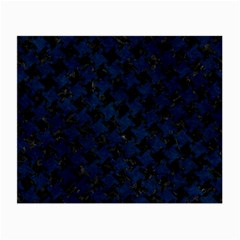 Houndstooth2 Black Marble & Blue Grunge Small Glasses Cloth by trendistuff