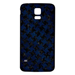 Houndstooth2 Black Marble & Blue Grunge Samsung Galaxy S5 Back Case (white) by trendistuff