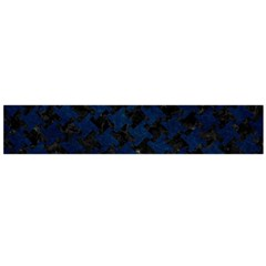 Houndstooth2 Black Marble & Blue Grunge Flano Scarf (large) by trendistuff