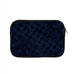Houndstooth2 Black Marble & Blue Grunge Apple Macbook Pro 15  Zipper Case by trendistuff