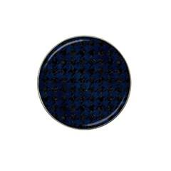 Houndstooth1 Black Marble & Blue Grunge Hat Clip Ball Marker (4 Pack) by trendistuff