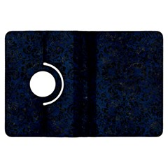 Damask2 Black Marble & Blue Grunge (r) Kindle Fire Hdx Flip 360 Case