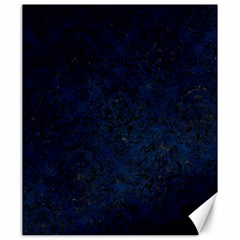 Damask1 Black Marble & Blue Grunge (r) Canvas 20  X 24  by trendistuff