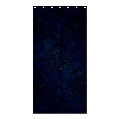 Damask1 Black Marble & Blue Grunge (r) Shower Curtain 36  X 72  (stall) by trendistuff