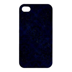Damask1 Black Marble & Blue Grunge (r) Apple Iphone 4/4s Hardshell Case by trendistuff