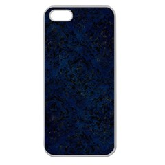 Damask1 Black Marble & Blue Grunge (r) Apple Seamless Iphone 5 Case (clear) by trendistuff