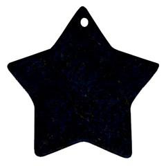 Damask1 Black Marble & Blue Grunge Star Ornament (two Sides) by trendistuff