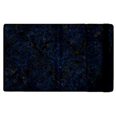 Damask1 Black Marble & Blue Grunge Apple Ipad 3/4 Flip Case by trendistuff
