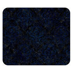 Damask1 Black Marble & Blue Grunge Double Sided Flano Blanket (small) by trendistuff