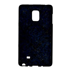 Damask1 Black Marble & Blue Grunge Samsung Galaxy Note Edge Hardshell Case by trendistuff
