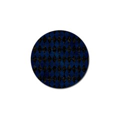 Diamond1 Black Marble & Blue Grunge Golf Ball Marker (10 Pack) by trendistuff