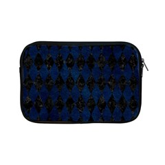 Diamond1 Black Marble & Blue Grunge Apple Ipad Mini Zipper Case by trendistuff
