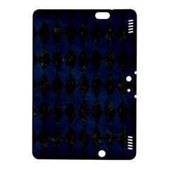 Diamond1 Black Marble & Blue Grunge Kindle Fire Hdx 8 9  Hardshell Case by trendistuff