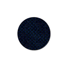 Circles3 Black Marble & Blue Grunge (r) Golf Ball Marker (10 Pack) by trendistuff