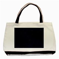 Circles3 Black Marble & Blue Grunge (r) Basic Tote Bag (two Sides) by trendistuff