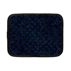 Circles3 Black Marble & Blue Grunge (r) Netbook Case (small) by trendistuff