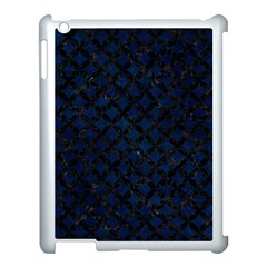 Circles3 Black Marble & Blue Grunge (r) Apple Ipad 3/4 Case (white) by trendistuff