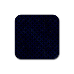 Circles3 Black Marble & Blue Grunge Rubber Square Coaster (4 Pack) by trendistuff