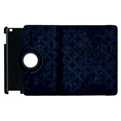 Circles3 Black Marble & Blue Grunge Apple Ipad 2 Flip 360 Case by trendistuff