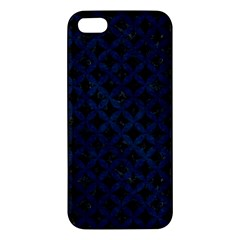 Circles3 Black Marble & Blue Grunge Apple Iphone 5 Premium Hardshell Case by trendistuff