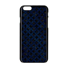 Circles3 Black Marble & Blue Grunge Apple Iphone 6/6s Black Enamel Case by trendistuff