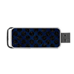 Circles2 Black Marble & Blue Grunge (r) Portable Usb Flash (one Side) by trendistuff