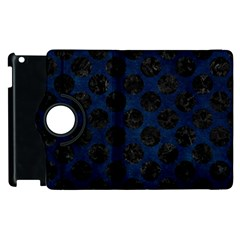 Circles2 Black Marble & Blue Grunge (r) Apple Ipad 2 Flip 360 Case by trendistuff