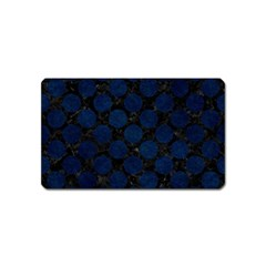 Circles2 Black Marble & Blue Grunge Magnet (name Card) by trendistuff