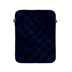 Circles2 Black Marble & Blue Grunge Apple Ipad 2/3/4 Protective Soft Case by trendistuff