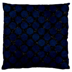 Circles2 Black Marble & Blue Grunge Standard Flano Cushion Case (one Side) by trendistuff
