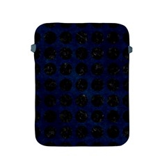 Circles1 Black Marble & Blue Grunge (r) Apple Ipad 2/3/4 Protective Soft Case by trendistuff