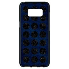 Circles1 Black Marble & Blue Grunge (r) Samsung Galaxy S8 Black Seamless Case by trendistuff