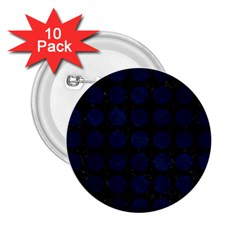 Circles1 Black Marble & Blue Grunge 2 25  Button (10 Pack) by trendistuff