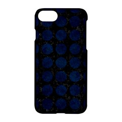Circles1 Black Marble & Blue Grunge Apple Iphone 7 Hardshell Case by trendistuff