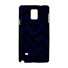 Chevron9 Black Marble & Blue Grunge (r) Samsung Galaxy Note 4 Hardshell Case by trendistuff