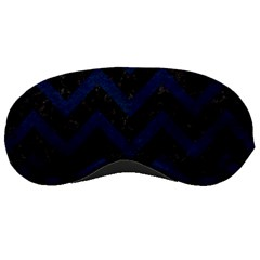 Chevron9 Black Marble & Blue Grunge Sleeping Mask by trendistuff
